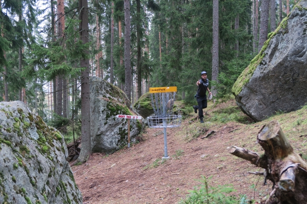 Hunnari frisbee golf course in Vieremä Mäkilammi area.